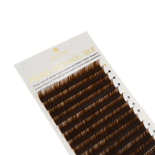 Ресницы Beautier INTERVAL В BROWN (Шелк) микс C D 16 линий