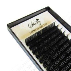 Ресницы Shery Silk (Шелк) Черный 18 линий 7-15 мм Изгиб L