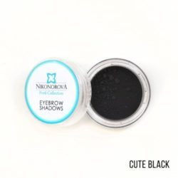 "Тени для бровей ""Nikonorova Profi Collection"" CUTE BLACK"