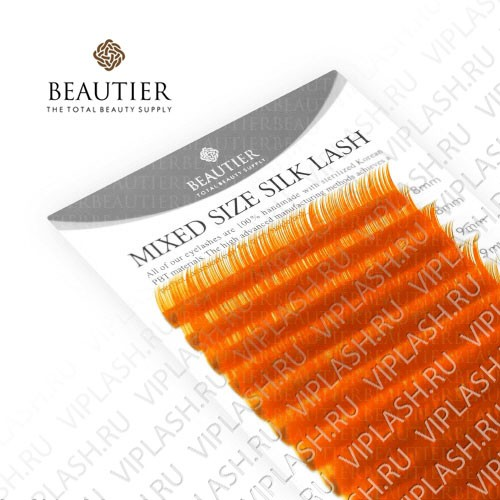 Ресницы Beautier Silk (Шелк) Orange Микс 16 линий 8-16 мм Изгиб C D