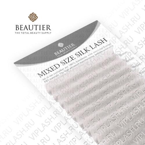 Ресницы Beautier Silk (Шелк) White Микс 16 линий 8-16 мм Изгиб C D