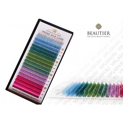 Ресницы Beautier Цветная палитра Pastel 16 линий Изгиб C D L