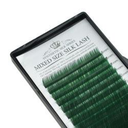 Ресницы Beautier Silk (Шелк) Green Микс 16 линий 8-16 мм Изгиб C D