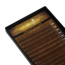 Ресницы Shery Silk (Шелк) Коричневый Микс 9-12 мм 18 линий Изгиб C D