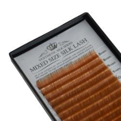 Ресницы Beautier Silk (Шелк) Светло-коричневый Микс 16 линий 8-16 мм Изгиб C D
