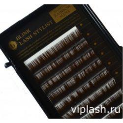 Ресницы AG Beauty Mink (Норка) Коричневый 12 линий  Изгиб C