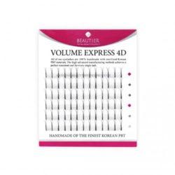 Ресницы Beautier 4D volume Черный 6 линий Изгиб C