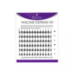 Ресницы Beautier 5D volume Черный 6 линий Изгиб D