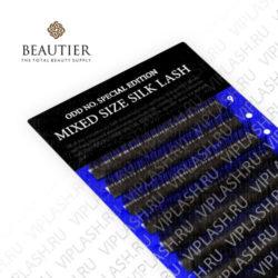 Ресницы Beautier (Шелк) Микс Черный 12 линий 9-11-13 мм Изгиб D