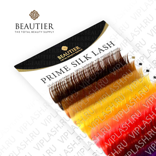 Ресницы Beautier Silk (Шелк) Цветной Микс 16 линий Изгиб D