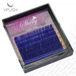 Ресницы Shery Purple Фиолетовый Микс 9-12мм 6 линий Изгиб L