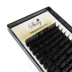 Ресницы Shery Silk (Шелк) Черный 18 линий Изгиб D